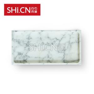 GPF-XHB-301503 雪花白方形果盘