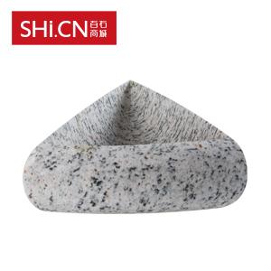 石头洗手盆XSP-060 美国白麻