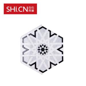 大理石马赛克 水晶白+卡拉拉白拼花石砖 MSK-262