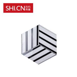 大理石马赛克 东方白+铝条拼花石砖 MSK-263